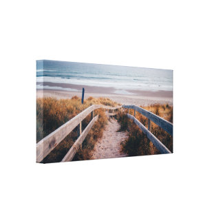 Stairway to the Sea Canvas Print