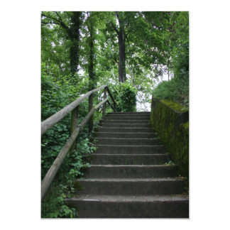 Stairway to the trees card