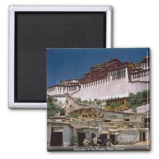 Stairways to the Potala, Tibet, China Magnet