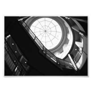 Stairwell and Spiderweb Skylight Photo Print