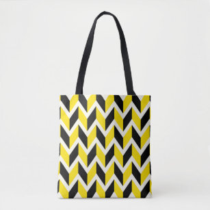 Staked Yellow Tote Bag