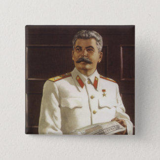 Stalin 15 Cm Square Badge