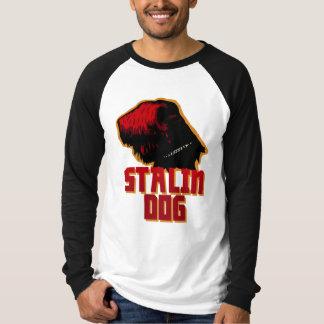 stalin dog men's  Sleeve Raglan T-Shirt