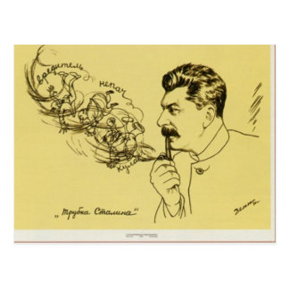 Stalin pipe postcard