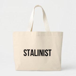 Stalinist Josef Stalin Soviet Union USSR CCCP Large Tote Bag