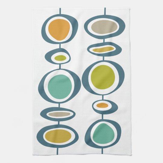 Stalk Geometric Mid Century Modern Hand Towel