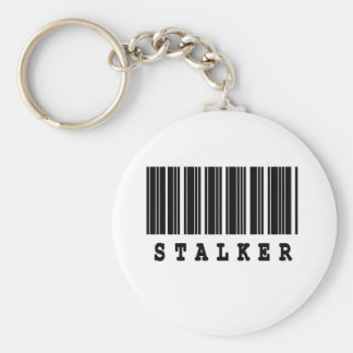 stalker barcode design basic round button key ring