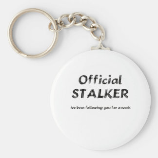 stalker black basic round button key ring