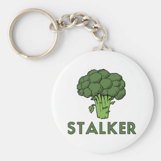 STALKER Funny Broccoli Fun Humor Pun Key Ring