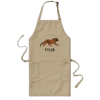 Stalking Tiger Personalized Long Apron