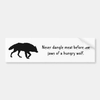 Stalking Wolf Bumper Sticker