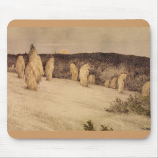 Stalks of Grain in Moonlight Mouse Pad