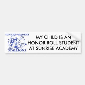 Stallion Logo Honor Roll Bumper Sticker