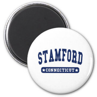 Stamford Connecticut College Style tee shirts 6 Cm Round Magnet