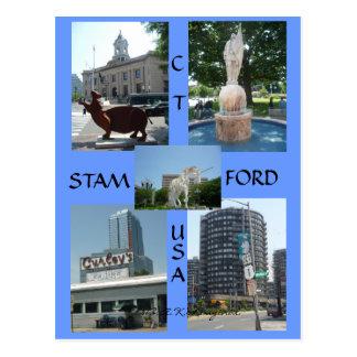 Stamford Ct Downtown Center Postcard