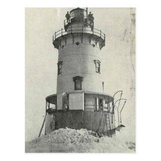 Stamford Harbor Ledge Lighthouse Postcard