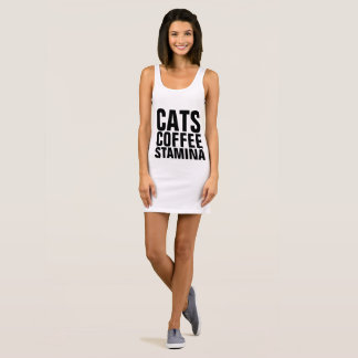 STAMINA Cat Coffee workout T-shirt dress