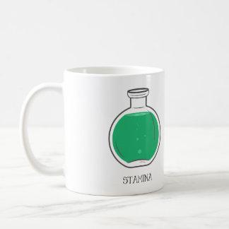 Stamina Potion: +100 Basic White Mug
