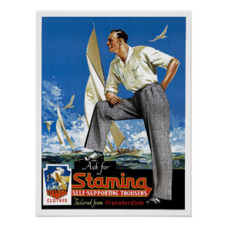 Stamina Self-Supporting Trousers Poster
