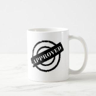 stamp approved black coffee mug