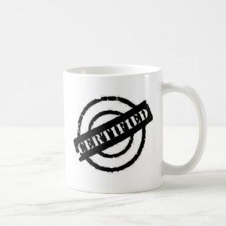stamp certified black basic white mug