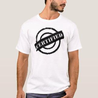 stamp certified black T-Shirt