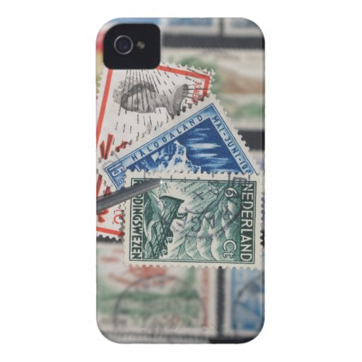Stamp Collecting iPhone 4 Covers