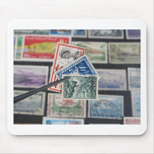 Stamp Collecting Mouse Pads