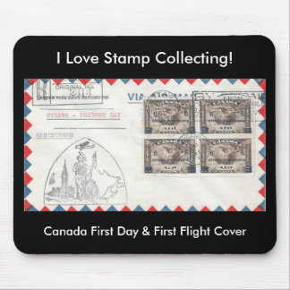 Stamp Collecting Mousepad Canada FDC & FFC