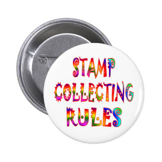 Stamp Collecting Rules Pinback Button