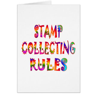 Stamp Collecting Rules Card