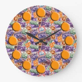 Stamp Collecting Wall Clock