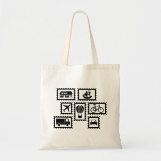 Stamp collection budget tote bag