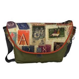 Stamp Collection Messenger Bag