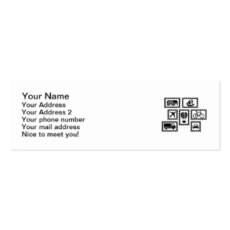 Stamp collection pack of skinny business cards