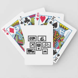Stamp collection poker deck