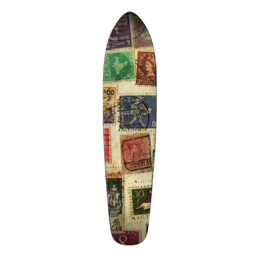 Stamp Collection Skateboard