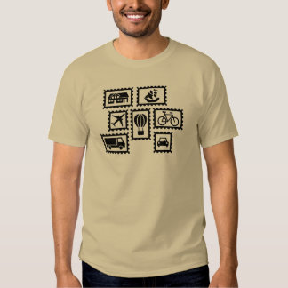 Stamp collection tee shirts