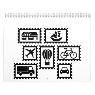 Stamp collection wall calendar