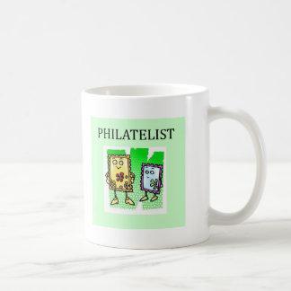 stamp collector basic white mug