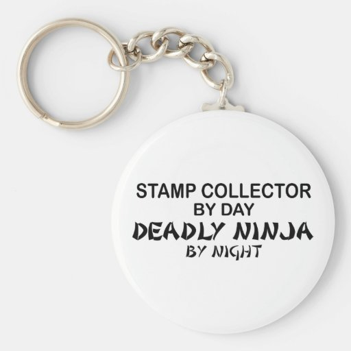 Stamp Collector Deadly Ninja by Night Keychain