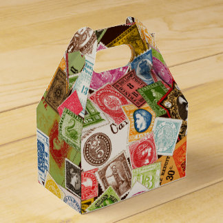 Stamp Collector Favor Box Party Favour Box