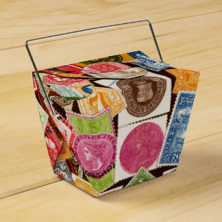 Stamp Collector Favor Box Wedding Favour Box