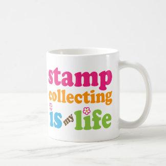 Stamp Collector Gift Girls Basic White Mug