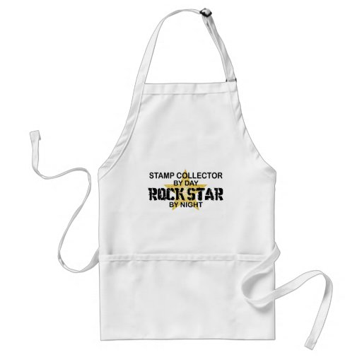 Stamp Collector Rock Star by Night Apron