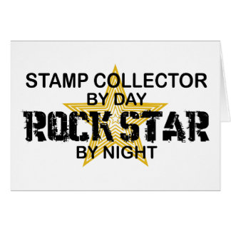Stamp Collector Rock Star by Night Greeting Card
