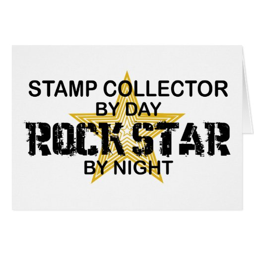 Stamp Collector Rock Star by Night Cards