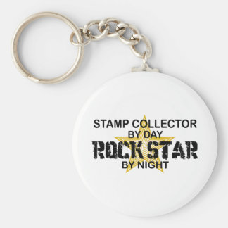 Stamp Collector Rock Star by Night Key Chain
