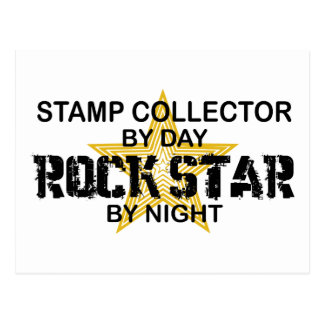 Stamp Collector Rock Star by Night Postcard