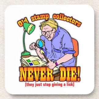 Stamp Collectors Drink Coaster